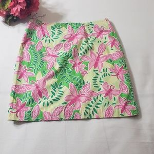 Lilly Pulitzer butterfly skirt